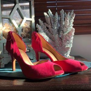 Kelly & Katie Fuchsia Peep toe heels 👠- Sz 7.5
